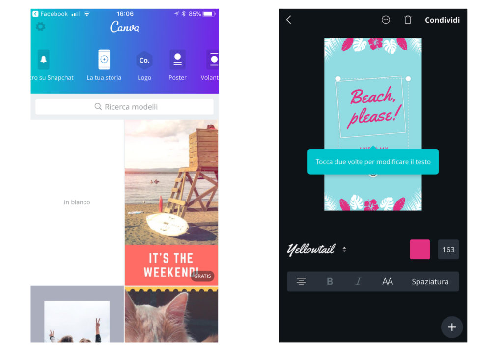 migliori app instagram stories - canva